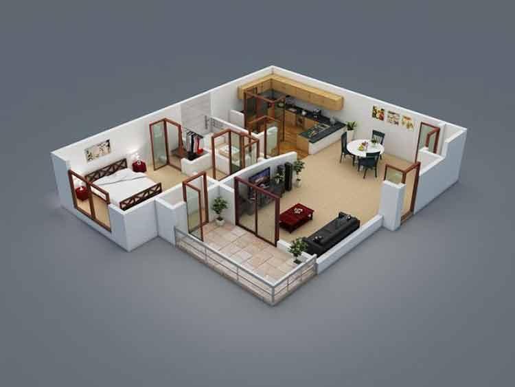 Denah Rumah Type 45 Berbagai Gaya Perkiraan Biayanya